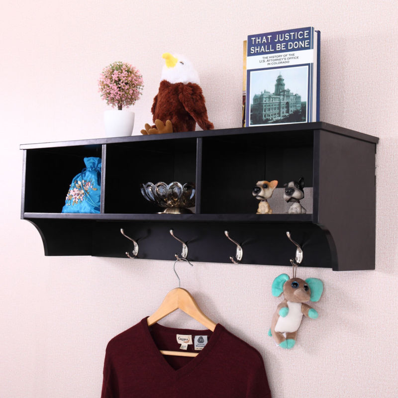 Entryway Coat Rack , key Organizer w/ 4 Hooks - Toyzor.com