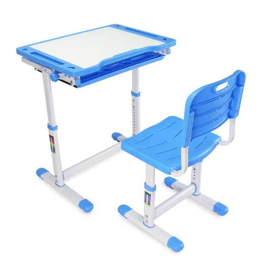 Adjustable Chair Set Child Kids Study Table + Drawer
