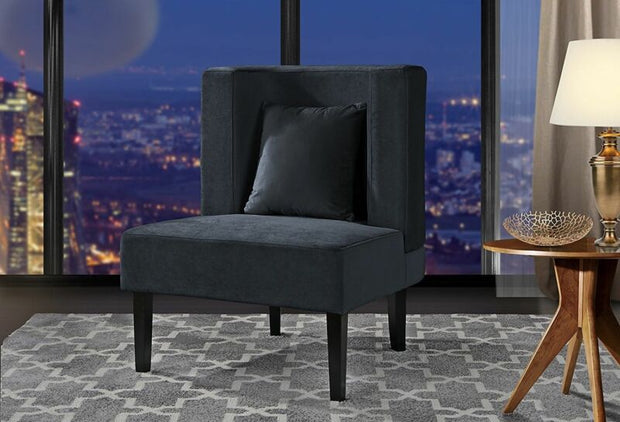 Upholstered Armless Velvet Chair