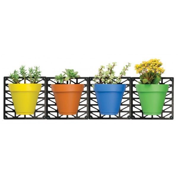 Indoor and Outdoor Wall Hanging Planters Set with 4 Pots - Toyzor.com