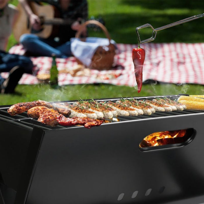 Portable Compact Charcoal Barbecue Grill Bars Smoker