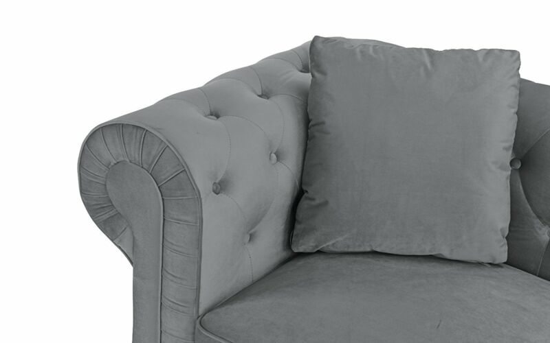 Classic Modern Scroll Arm Velvet Love Seat...