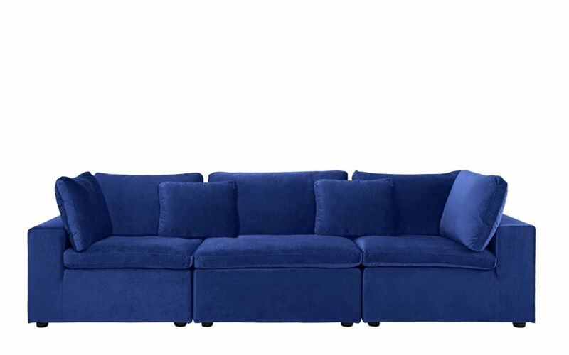 Large Classic Plush Velvet Couch