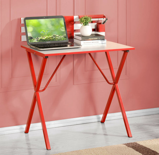 Red/White Finish Kids Children's Computer Writing Desk