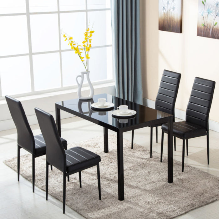 5 Piece Dining Table with 4 Chairs - Toyzor.com
