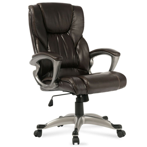 (Mocha) Executive Leather Adjustable Height Lumbar Support Manager