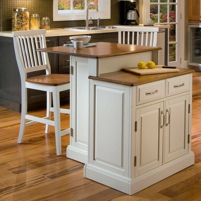 Home Styles Woodbridge Two Tier Kitchen Island