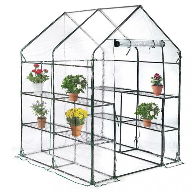 Portable Mini Greenhouse Outdoor Plant Shelves