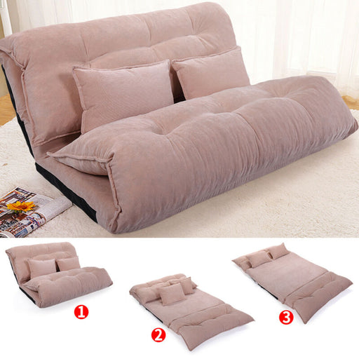 Modern Foldable Leisure Sofa with 2 Pillows