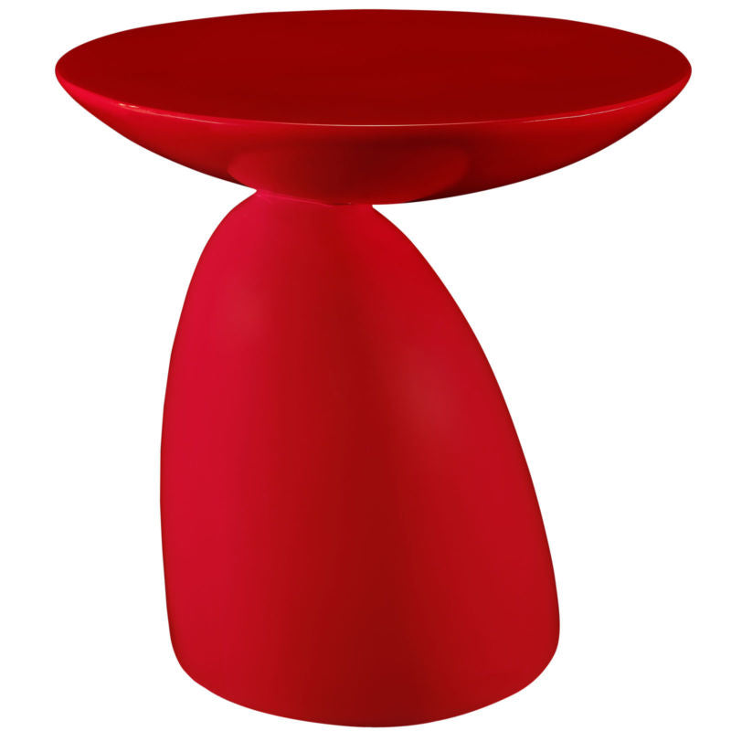 Contemporary Modern Fiberglass End Table - Toyzor.com