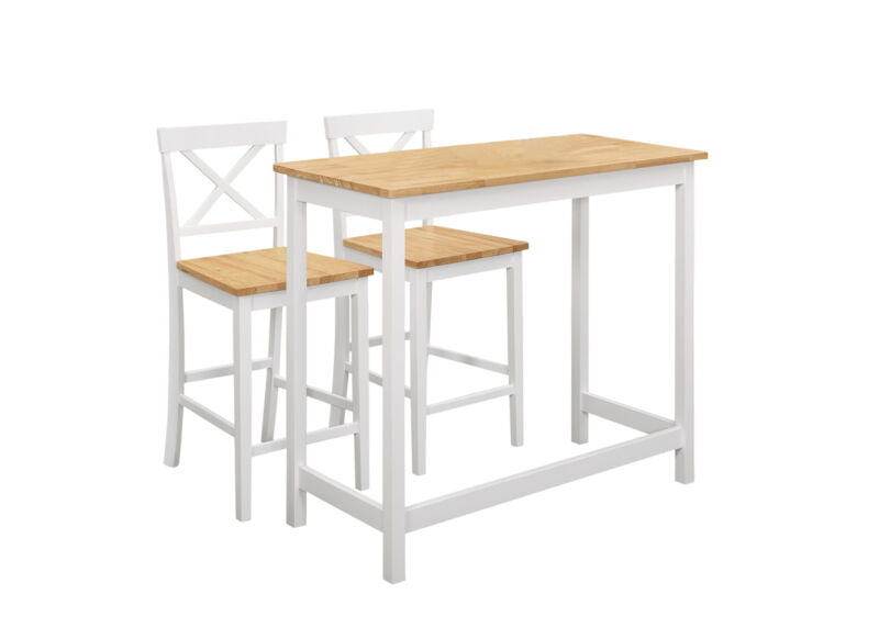 3-Piece Counter-Height Kitchen Dining Set, Table & 2 Stools