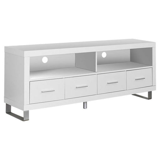 Contemporary Entertainment Center TV Stand w/ Storage