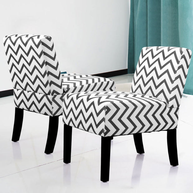 Set of 2 Modern Dining Sofa Chair with Solid Wood Legs