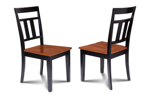 SET OF 6 KITCHEN DINING SIDE CHAIRS w/ WOODEN SEAT
