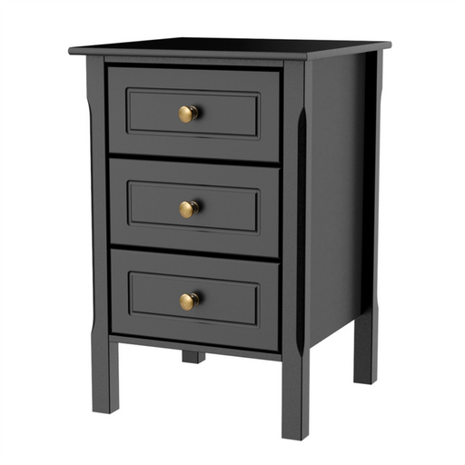 3 Drawers Nightstand Accent End Side Bedside Table