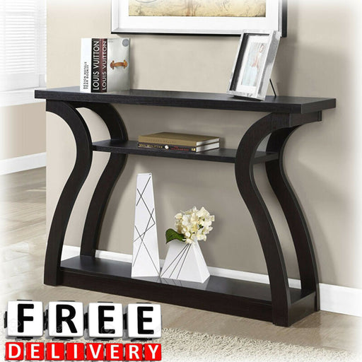 Wall Contemporary Entryway Storage Furniture Wood Shelf Console Table