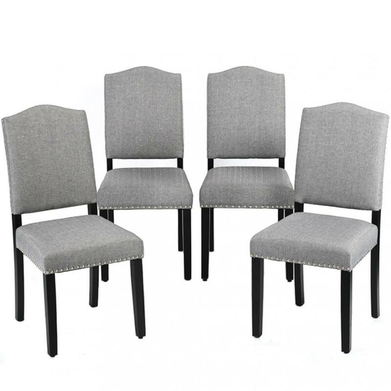Dining  Armless Chair Accent Solid Wood Set Of 4