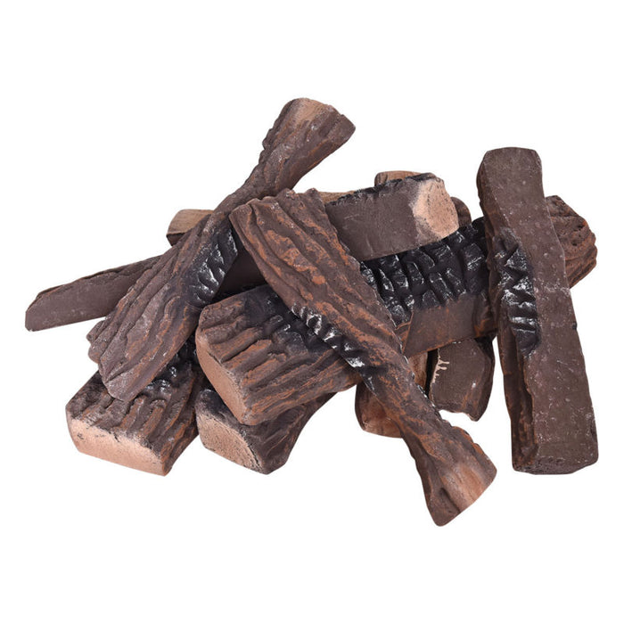 Ceramic Wood Logs - 10 pieces - Toyzor.com