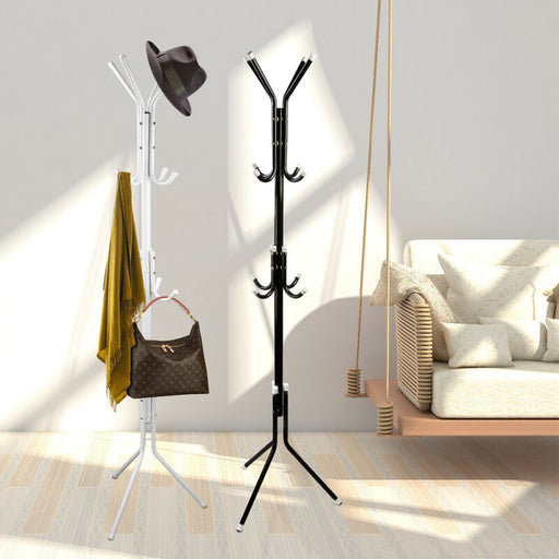 Coat/Hat Metal Rack Organizer Hanger Hook Stand