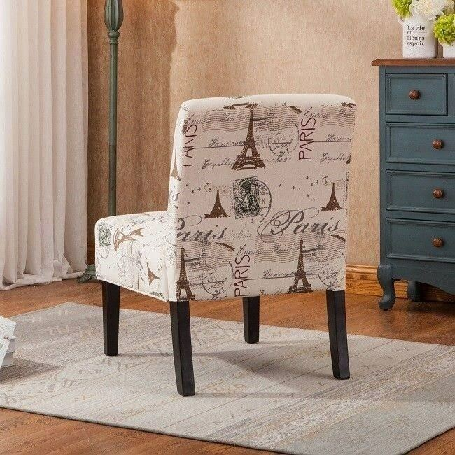 Paris Theme Decor Small Accent Corner Chairs For Bedroom
