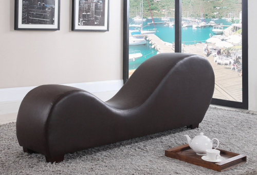 Yoga Chair Chaise Lounge Stretch Relaxation Leather Loveseat