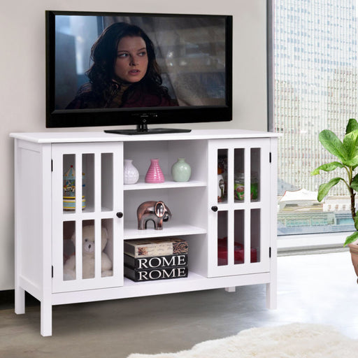Wood TV Stand Storage Console - Toyzor.com