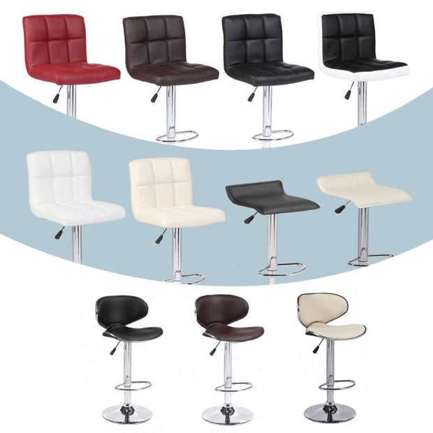 Modern Set of  Adjustable 2 Bar Stools Pub Chair in Multi Colors