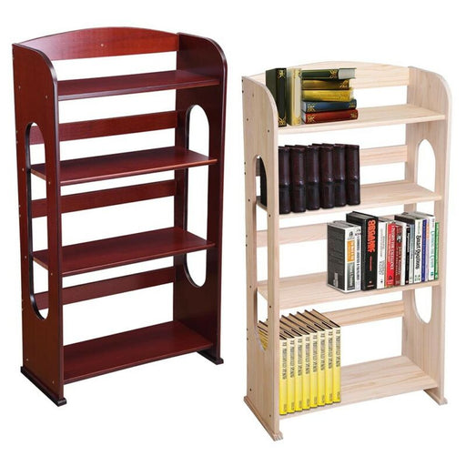 4 Shelf Wood Bookcase