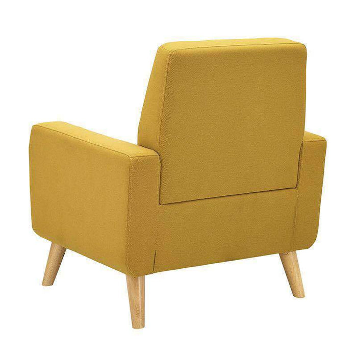 Single Sofa  Modern Tufted Accent Arm Chair Contemporary Fabric Upholstered Linen