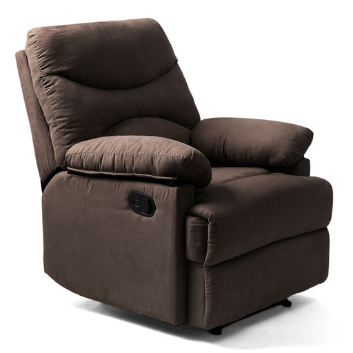 Massage Chair Heated Vibrating Recliner (Chocolate)