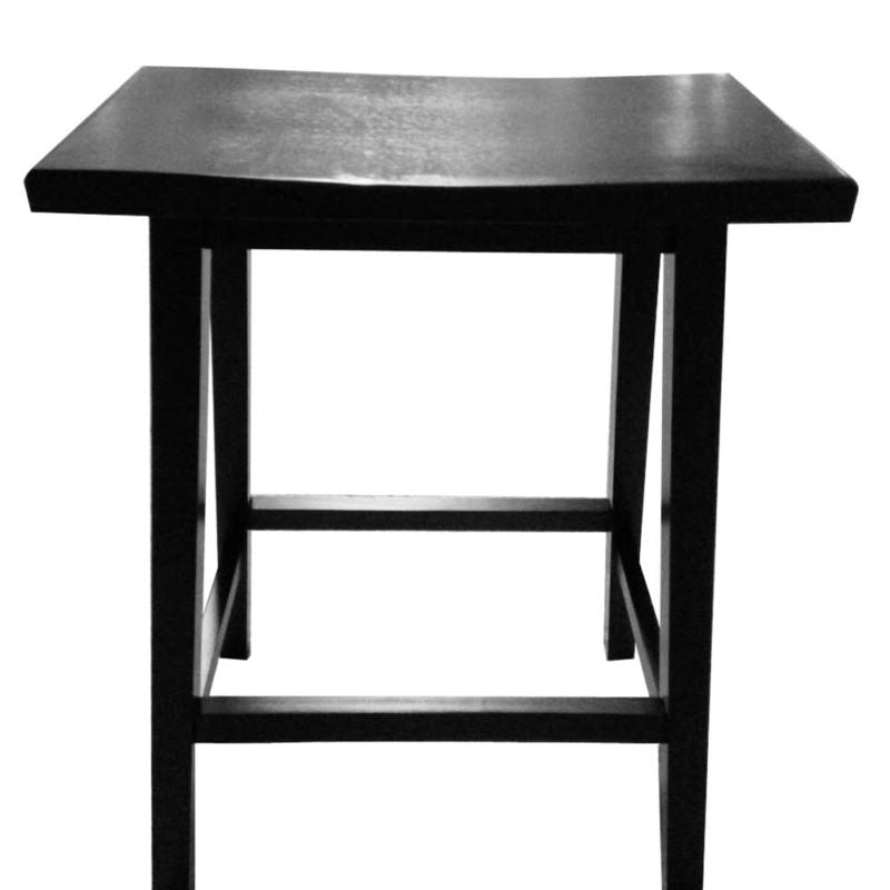 Set of 2 Black Wood  Chair Retro Bar Stools
