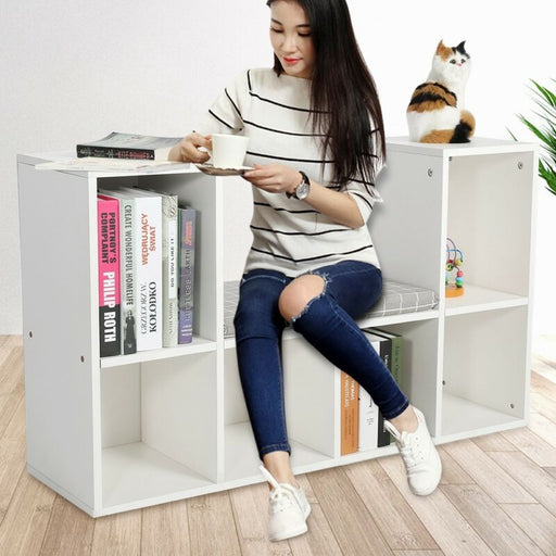 6 Grid Storage Cube Shelf Bookcase