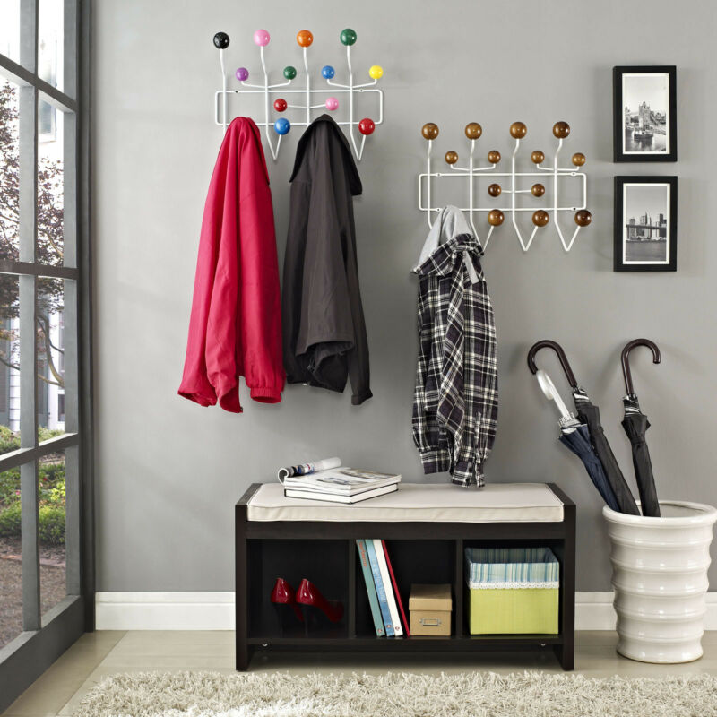 Wall Mount Entryway Wood Ball Hanger Hook