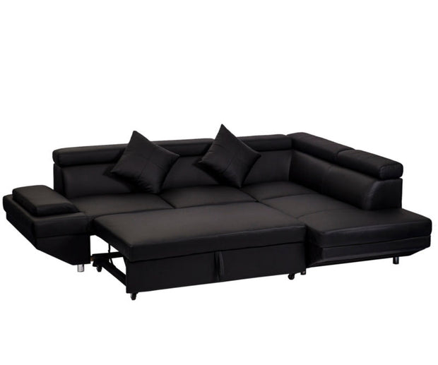 Sectional Modern Sofa Bed with Functional Armrest
