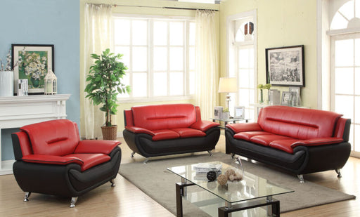 Modern Style Contemporary Bonded Leather Sofa & Loveseat