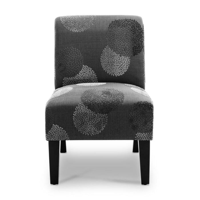 Upholstered Slipper Accent Armless Chair
