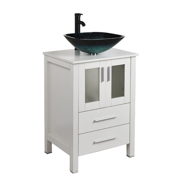 Bathroom Vanity Floor Cabinet Vessel Sink