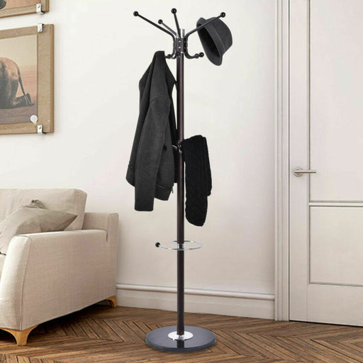Metal Coat/Hat/Jacket Tree Rack Marble Base