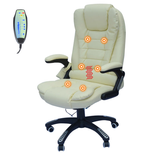 Executive Office Massage Chair Ergonomic Heated Vibrating Computer Desk