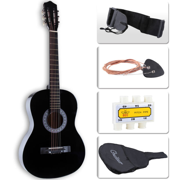 "38"" Acoustic Guitar with Guitar Case"
