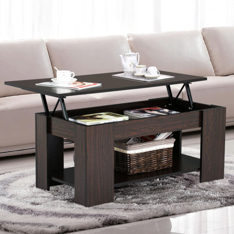 Modern Wooden Lift Top Coffee Table - Toyzor.com