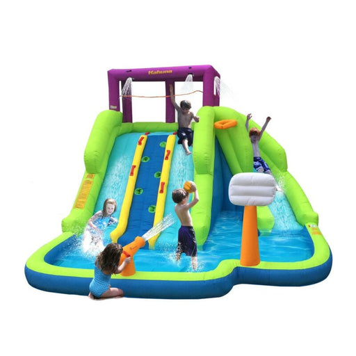 Outdoor Inflatable Splash Pool Backyard Water Slide