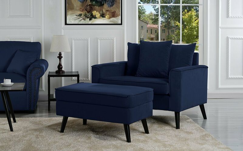 Large Accent Chair with Footrest / Storage