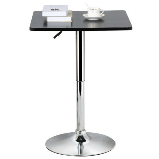 Adjustable Swivel Square Pub Table Bar Counter Height Cafe Bistro Pedestal Table