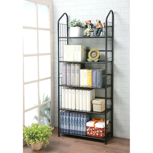 3/4/5-Shelf Metal Bookcase Storage Wall Shelf Display Rack