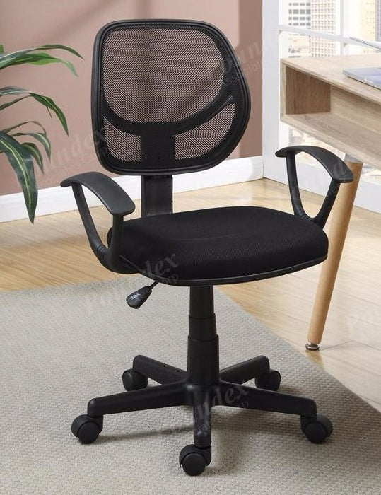 Poundex Mesh Back Nylon Base and Caster Office Chair