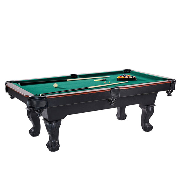 90 Inch Traditional Full Size Billiard Pool Table Set w/ Accessories