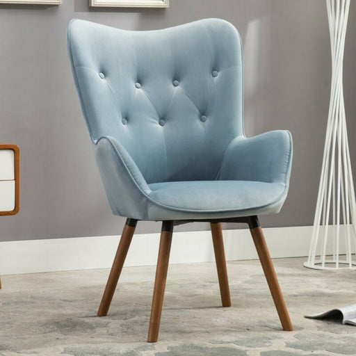 Contemporary Velvet Tufted Button Back Accent Chair