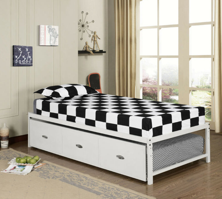 Twin Size Day Bed Frame With Roll Out Trundle