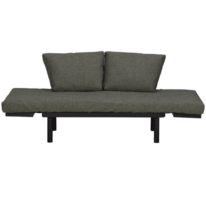 Futon Sofa Sleeper Loveseat Convertible Sofa Bed Lounger w/ Adjustable Armrests